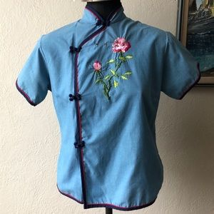 Vintage embroidered blouse size XS